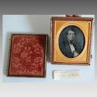 Antique DAGUERREOTYPE / CASE:  Young Man (Philadelphia)