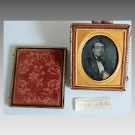 Antique DAGUERREOTYPE / CASE:  Young Man (Philadelphia)