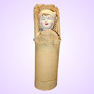 German Paper Mache Baby Candy Container