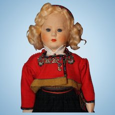 Ronnaug Petterseen Large doll with Glass Eyes