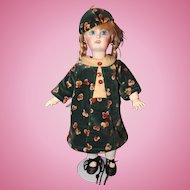 Bleuette original Outfit Parisienne made in velvet