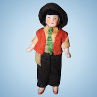 Tiny All Bisque German doll all original clothing