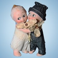 Kewpie Bride and Groom All bisque Germany Rose O'Neil