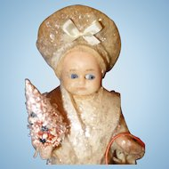 Wax Doll Christmas Candy Container