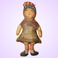 Liberty Bell Cloth Doll from Sesquicentennial