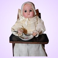 Wax Over Paper Mache Doll Mechanical Toy