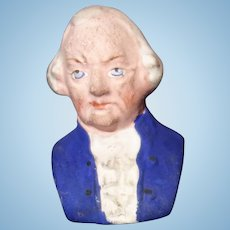 George Washington Paper Mache Candy Container