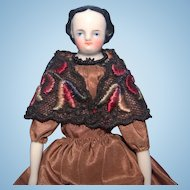 Small 7 inch 1860 China Doll with China arms and legs