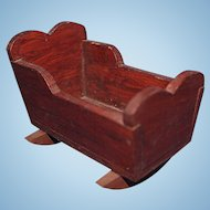 Small Wood Doll Cradle dated to 1900