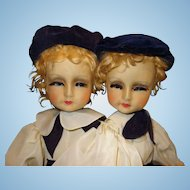 Blossom Doll All Cloth Fraternal Twins