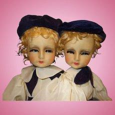 Blossom Doll All Cloth Fraternal Twins