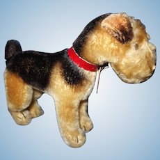Steiff Terry Airedale Dog Standing Mohair