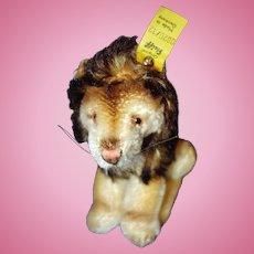 Steiff Lowe Leo mohair yellow tag