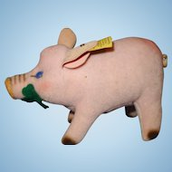Steiff Jolanthe the Pig Velvet button in ear