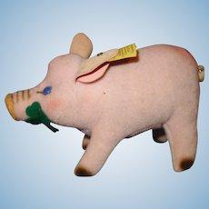 Steiff Jolanthe the Pig Velvet button in ear