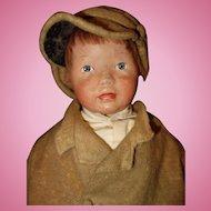 Kamkin Boy Doll in original Clothing with Cap