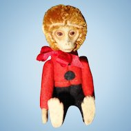 Schuco Perfume Monkey mohair and felt over metal frame