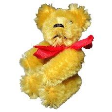 Schuco Tiny Teddy Bear Mohair 2 1/2 inches
