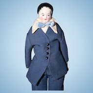 Early Black hair China Young Man Doll with short hair