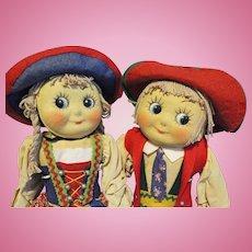 Muschi Googly German Cloth Dolls