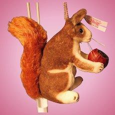 Steiff Squirrel 668593 Velvet and Mohair