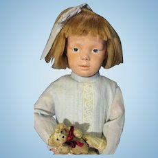Schoenhut Character Doll with mohair wig