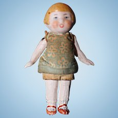 All bisque Doll Germany with molded hair