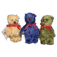 3 Gund Tiny Teddy Bears  Color coordinated