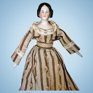 Small Early China Doll 1860 7 1/2 inches tall