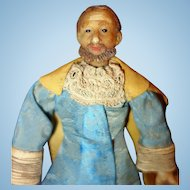 Early Wax Male Doll from Creche