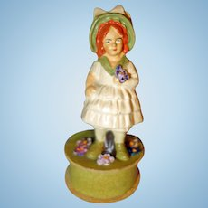 Spring Little Girl Candy Container