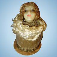 Early Wax Doll Candy Container