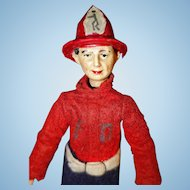 Bucherer Fireman Doll Switzerland All Original