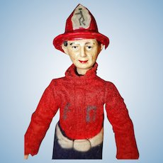 Bucherer Fireman Doll Switzerland All Original