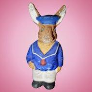 Rabbit Sailor Paper Mache Candy Container