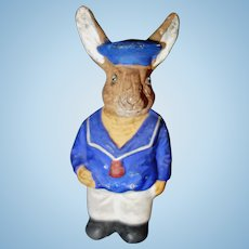 Rabbit Sailor Paper Mache Candy Container