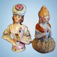Pair of Half dolls with arms attached to body