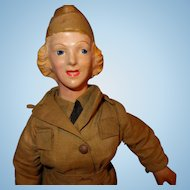Freundlich Wac Military Doll Composition