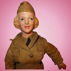 Freundlich Wac Military Doll Composition