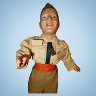 Freundlich Soldier Military Doll Composition