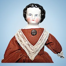 Early Small Black Hair China Doll