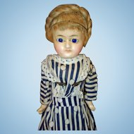 Early Wax Over Paper Mache Doll