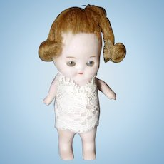 Tiny 2 1/2 inch German All bisque Doll
