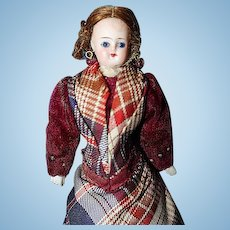 Glass Eye German Bisque Doll House Doll