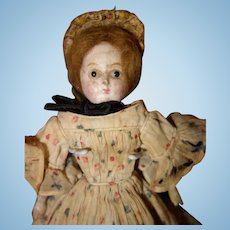 Very Early Paper Mache Doll