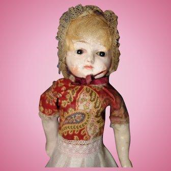 1880 German Paper Mache Small Doll