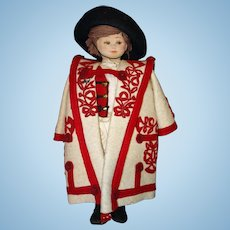 Unusual All Cloth Pressed Mask Face Doll
