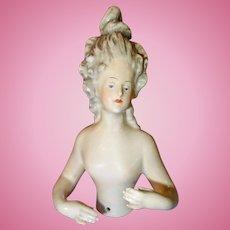 Rare Half Doll with Extreme Hairdo