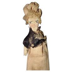 Tiny Cloth Folk Art Doll
