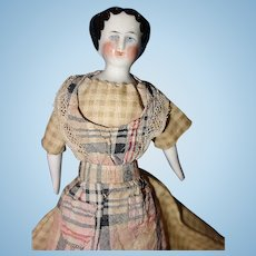 Small Flat Top China Doll 1860